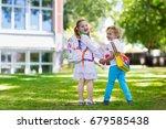children go back to school.... | Shutterstock . vector #679585438