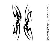 tribal tattoo art designs.... | Shutterstock .eps vector #679587748