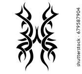 tribal tattoo art designs.... | Shutterstock .eps vector #679587904