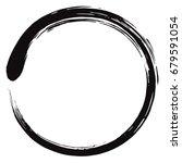 minimalistic enso zen circle... | Shutterstock .eps vector #679591054