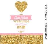 wedding invitation with heart | Shutterstock . vector #679592116