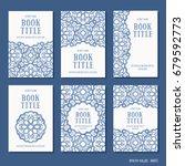 arabesque design   set of six... | Shutterstock .eps vector #679592773