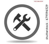 wrench icon | Shutterstock .eps vector #679596529