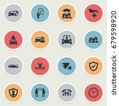 vector illustration set of... | Shutterstock .eps vector #679598920