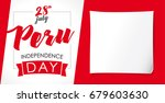 peru independence day greeting... | Shutterstock .eps vector #679603630
