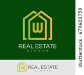 real estate initial letter w...   Shutterstock .eps vector #679603759