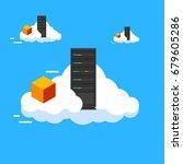 cloud node data center... | Shutterstock .eps vector #679605286