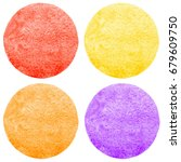 set  collection of watercolor... | Shutterstock . vector #679609750