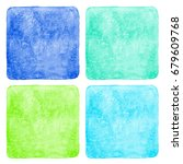 set  collection of watercolor... | Shutterstock . vector #679609768