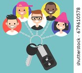 car sharing service conceptual... | Shutterstock .eps vector #679610578