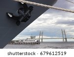 anchor of the warship against a ...   Shutterstock . vector #679612519