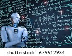 3d rendering robot learning or... | Shutterstock . vector #679612984