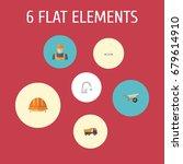 flat icons faucet  van  worker... | Shutterstock .eps vector #679614910