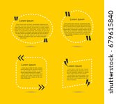 set of quotes in bubbles over... | Shutterstock .eps vector #679615840
