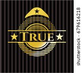 true shiny badge | Shutterstock .eps vector #679616218