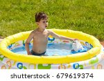 the kid is playing in the... | Shutterstock . vector #679619374