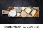 french cheese platter with... | Shutterstock . vector #679621210