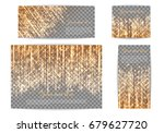 collection of shimmering... | Shutterstock .eps vector #679627720