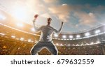 happy cricket player on the... | Shutterstock . vector #679632559