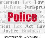 law concept  painted red text... | Shutterstock . vector #679633510