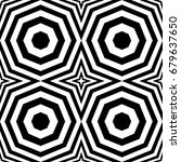 seamless pattern with black... | Shutterstock .eps vector #679637650