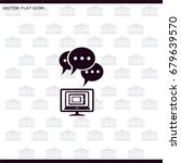 chat icon | Shutterstock .eps vector #679639570