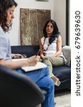 psychotherapy session  woman... | Shutterstock . vector #679639630