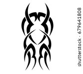 tribal tattoo art designs.... | Shutterstock .eps vector #679641808