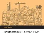 construction landscape ...   Shutterstock .eps vector #679644424