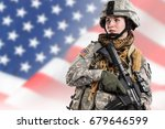 female in us army soldier  isaf ... | Shutterstock . vector #679646599