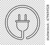 plug vector icon in line style. ... | Shutterstock .eps vector #679654528