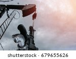 crude oil from oil well with...   Shutterstock . vector #679655626