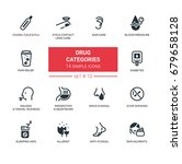 drug categories   set of vector ... | Shutterstock .eps vector #679658128