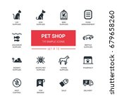 pet shop   set of vector icons  ... | Shutterstock .eps vector #679658260