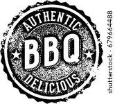 vintage barbecue bbq menu... | Shutterstock .eps vector #679664488