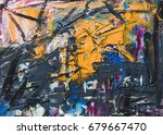 abstract hand drawn of oil... | Shutterstock . vector #679667470
