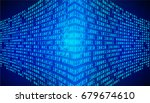 blue technology decoder and...   Shutterstock .eps vector #679674610