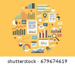 chart with statistics and data  ... | Shutterstock .eps vector #679674619