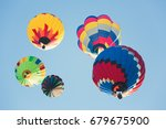 multi colored hot air balloons... | Shutterstock . vector #679675900