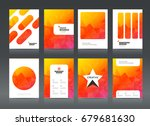 abstract business brochure...   Shutterstock .eps vector #679681630