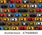 traffic jam on the road. road... | Shutterstock .eps vector #679688860