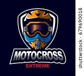 motocross sport emblem   Shutterstock .eps vector #679690018