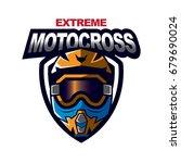 motocross sport emblem   Shutterstock .eps vector #679690024