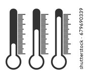 thermometer icons | Shutterstock .eps vector #679690339