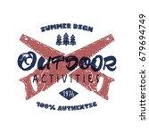 outdoor activities retro poster....   Shutterstock . vector #679694749