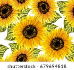beautiful seamless pattern with ... | Shutterstock .eps vector #679694818