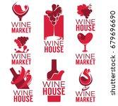 wine house  red wine bottles... | Shutterstock .eps vector #679696690