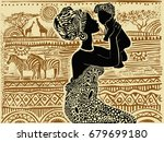 silhouette of a beautiful... | Shutterstock .eps vector #679699180