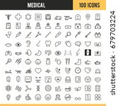 medical icon set. vector... | Shutterstock .eps vector #679703224