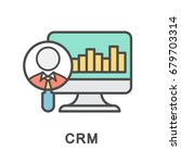 crm icon. analysis of the...   Shutterstock .eps vector #679703314